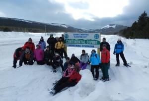 snowshoeing glacier national park