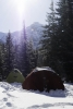 winter camping in glacier national park