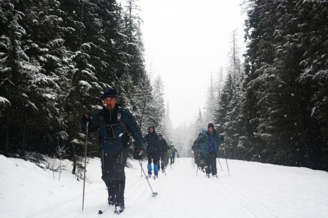 cross country ski glacier park